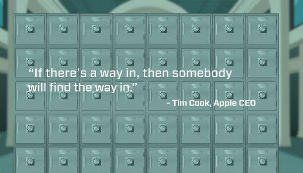 Tim Cook Quote on accessing connected devices